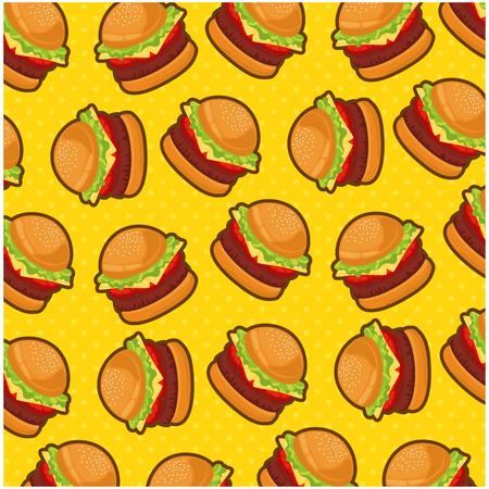 colorful background of hamburgers vector illustration design