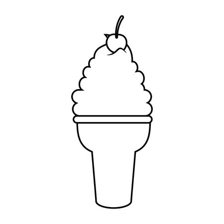 Ijs icoon over witte achtergrond vector illustratie