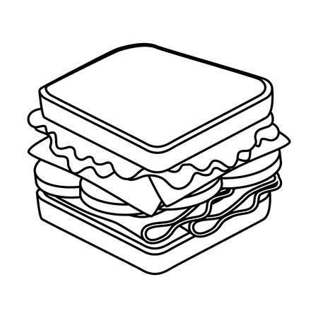 toasted: sandwich icon over white background vector illustration Illustration