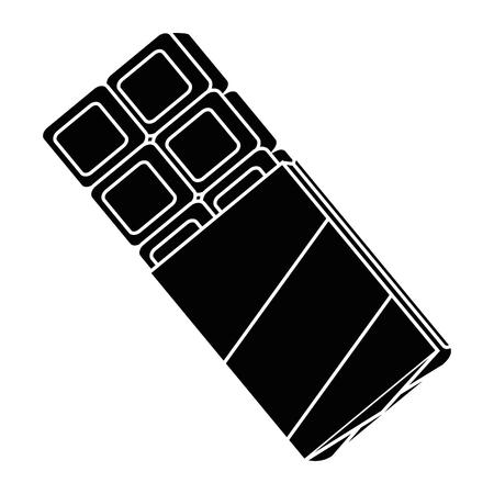 Chocoladereep pictogram over witte achtergrond vector illustratie