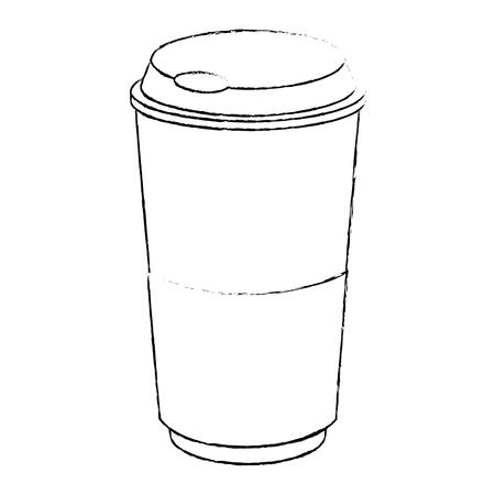 koffiekopje drank over witte achtergrond afbeelding