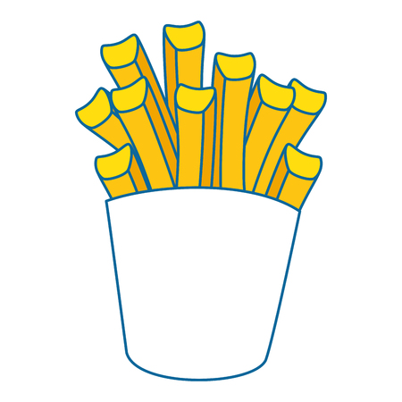 french fries box over white background graphic