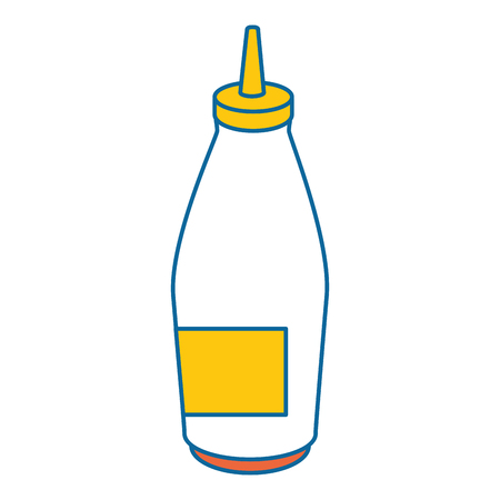 sauce bottle image over white background graphic