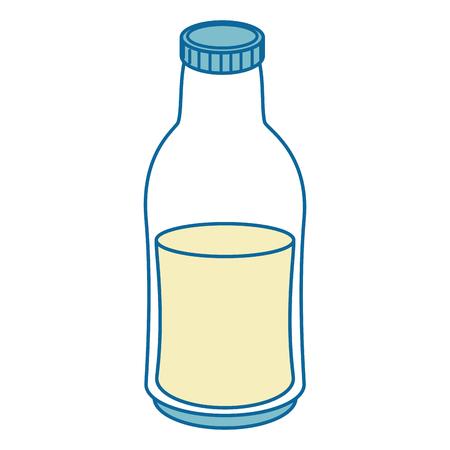 milk bottle drink over white background graphic