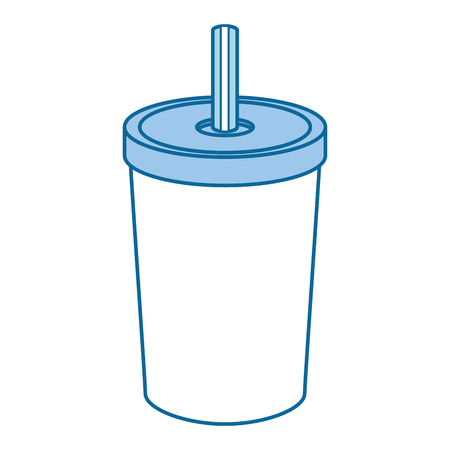 Soda drink image over white background graphic