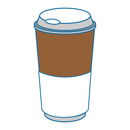 coffee cup drink over white background graphic