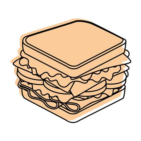 sandwich icon over white background vector illustration Ilustração