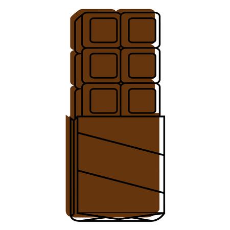 白い背景の上のチョコレート ・ バーのアイコン ベクトル イラスト