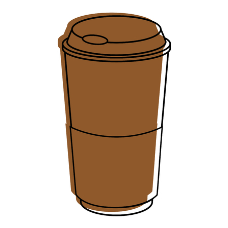 coffee cup icon over white background vector illustration Illustration