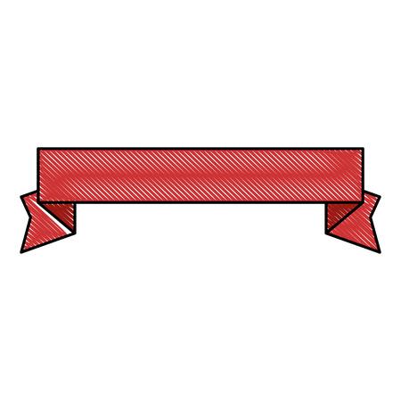 decorative ribbon icon over white background vector illustration Stock Vector - 83190087