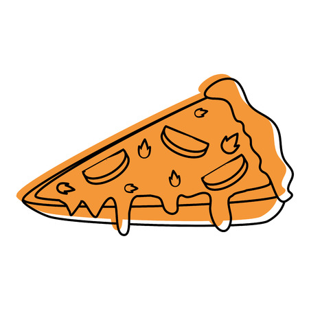 pizza icon over white background vector illustration Ilustração