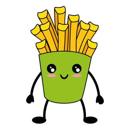 french fries box icon over white background vector illustration
