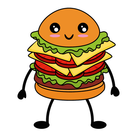 hamburger icon over white background colorful design  vector illustration