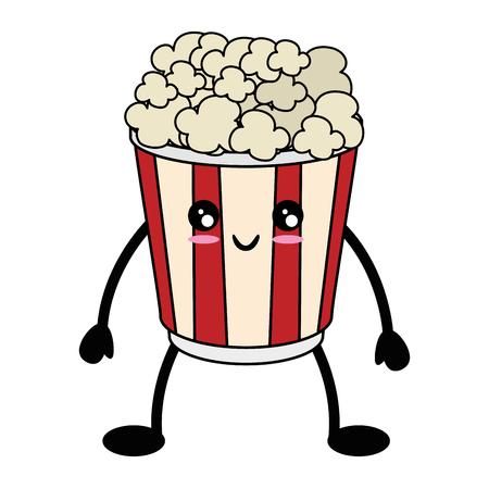 popcorn bucket icon over white background vector illustration