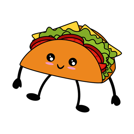 taco icon over white background vector illustration