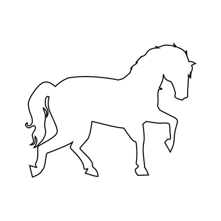 horse icon over white background vector illustration Reklamní fotografie - 83212609
