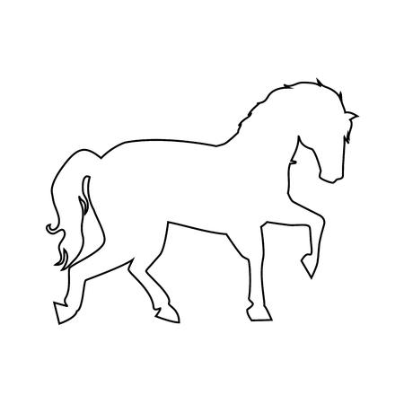 paard icoon over witte achtergrond vector illustratie