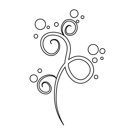 ornament icon over white background vector illustration