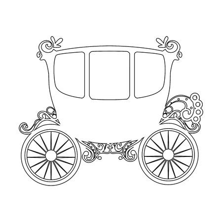 icône de camion médiéval sur fond blanc illustration vectorielle