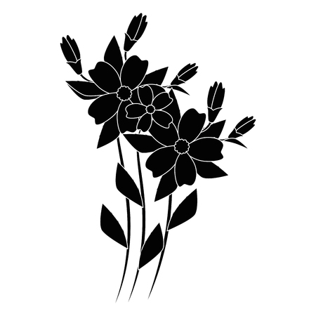 stem with flowers icon over white background vector illustration 向量圖像