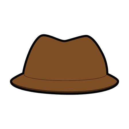A hat accessory icon over white background vector illustration. Ilustração