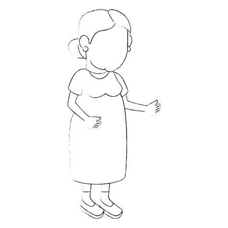 avatar grandmother icon over white background vector illustration Stock Photo