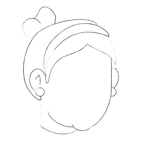 avatar grandmother face icon over white background vector illustration Stock Illustration - 83252547