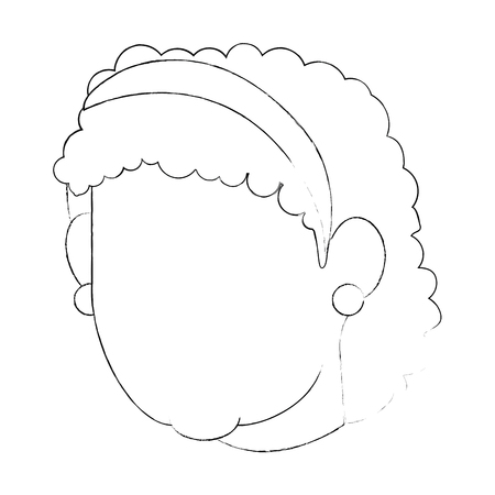 avatar grandmother face icon over white background vector illustration Stock Photo