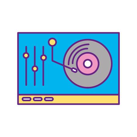vinyl player console icon vector illustration design Illustration