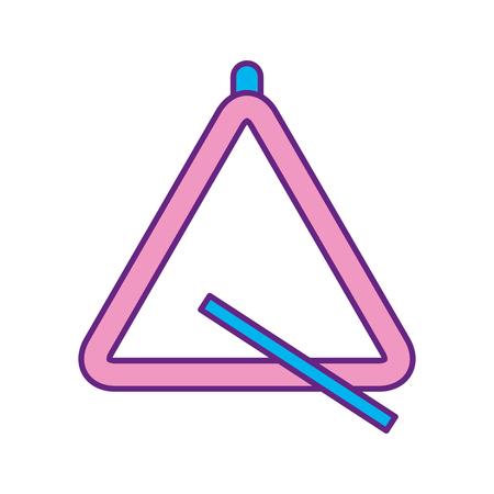 삼각형 악기 뮤지컬 아이콘 벡터 일러스트 디자인