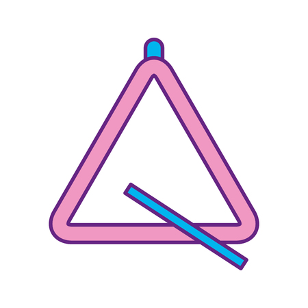 triangle instrument musical icon vector illustration design Ilustração