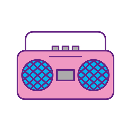 ラジオ音楽プレーヤー アイコン ベクトル イラスト デザイン