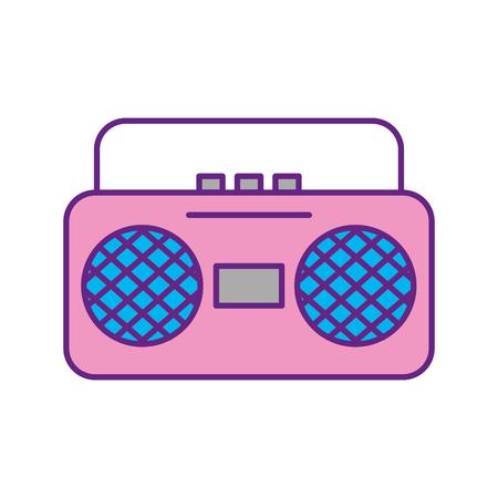 라디오 음악 플레이어 아이콘 벡터 일러스트 레이 션 디자인
