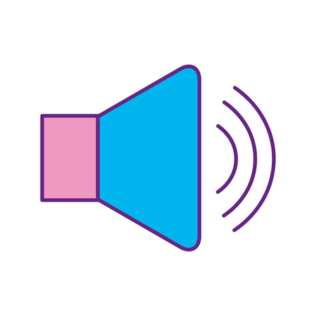 speaker audio isolated icon vector illustration design Illustration