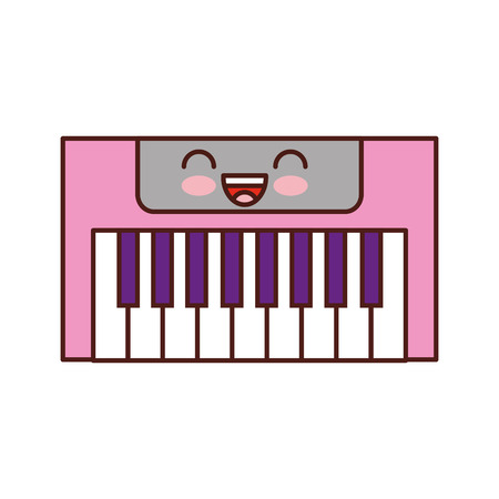 Synth console   character vector illustration design