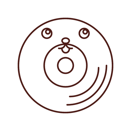 soundtrack: vinyl old music  character vector illustration design