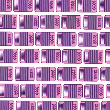 concertina: accordion musical instrument pattern background vector illustration design Illustration