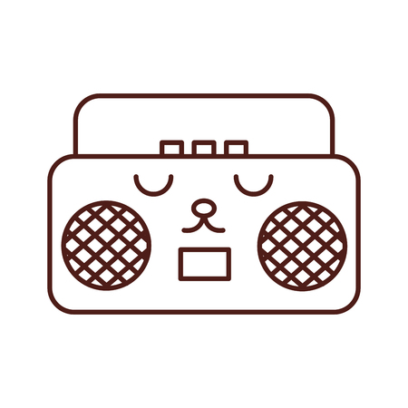 radio music player  character vector illustration design Illustration