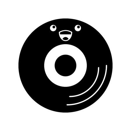 비닐 오래 된 음악 문자 벡터 일러스트 레이 션 디자인