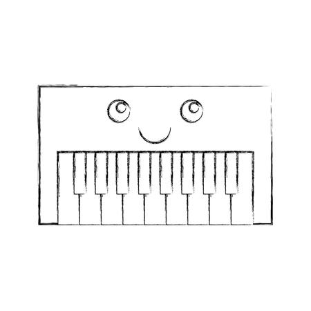 Synth console karakter vector illustratie ontwerp
