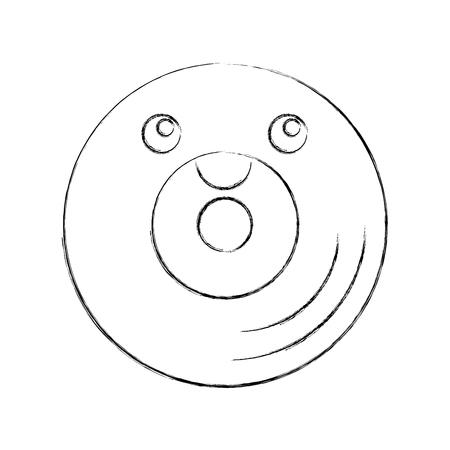 vinyl old music  character vector illustration design