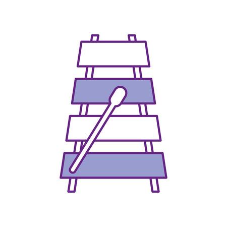 xylophone musical instrument icon vector illustration design Illustration
