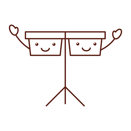 timpani music instrument   character vector illustration design