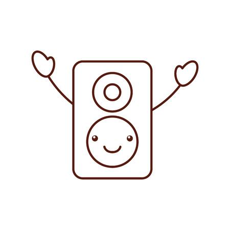 speaker audio  character vector illustration design Çizim