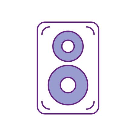 speaker audio isolated icon vector illustration design Illusztráció
