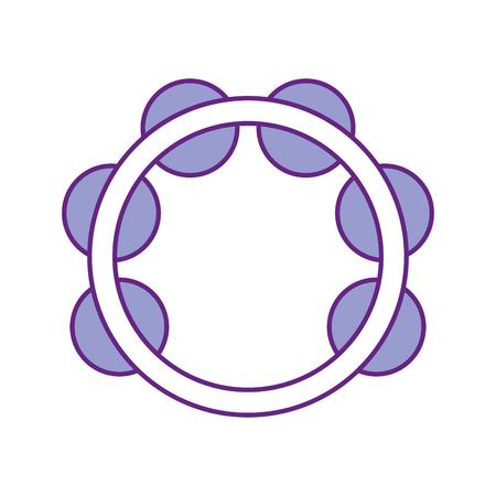 ontwerp van de het pictogram vectorillustratie van het tamboerijn het muzikale instrument