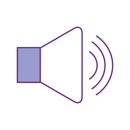 speaker audio isolated icon vector illustration design Çizim