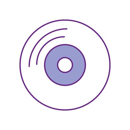 ビニール古い音楽アイコン ベクトル イラスト デザイン
