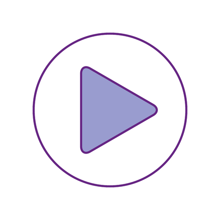 Botón de reproducción icónico ilustración vectorial de diseño Foto de archivo - 83257504
