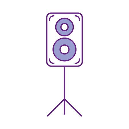speaker audio isolated icon vector illustration design Ilustração